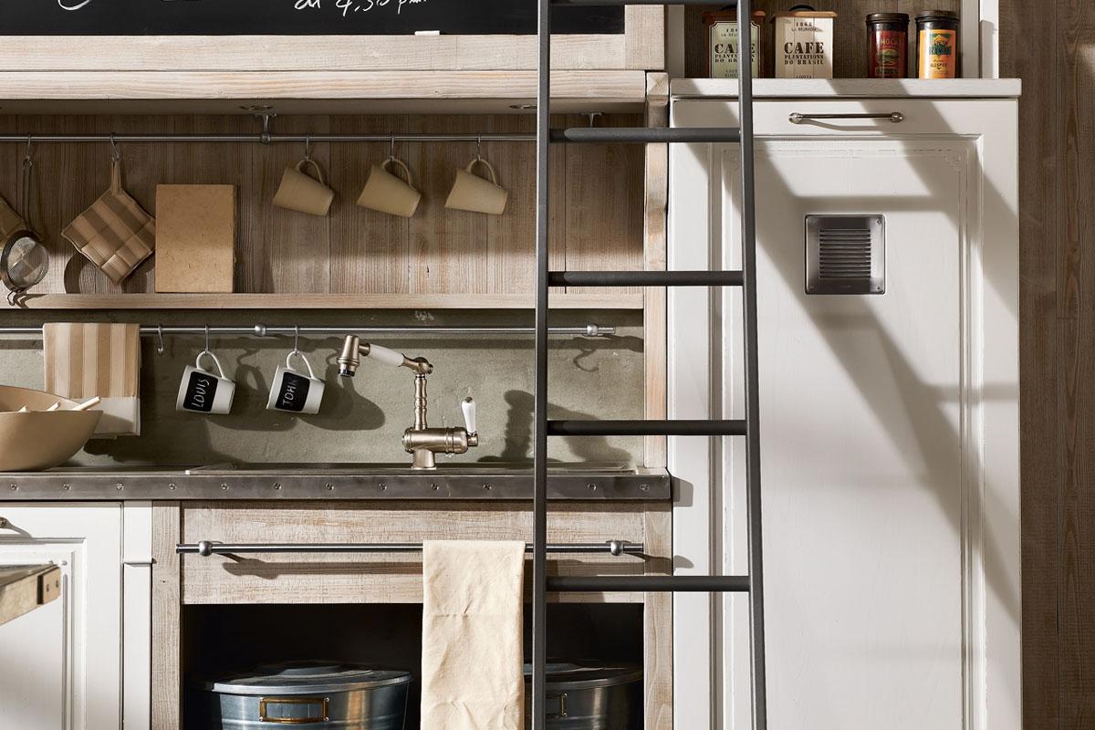 Современная стилизованная винтажная кухня