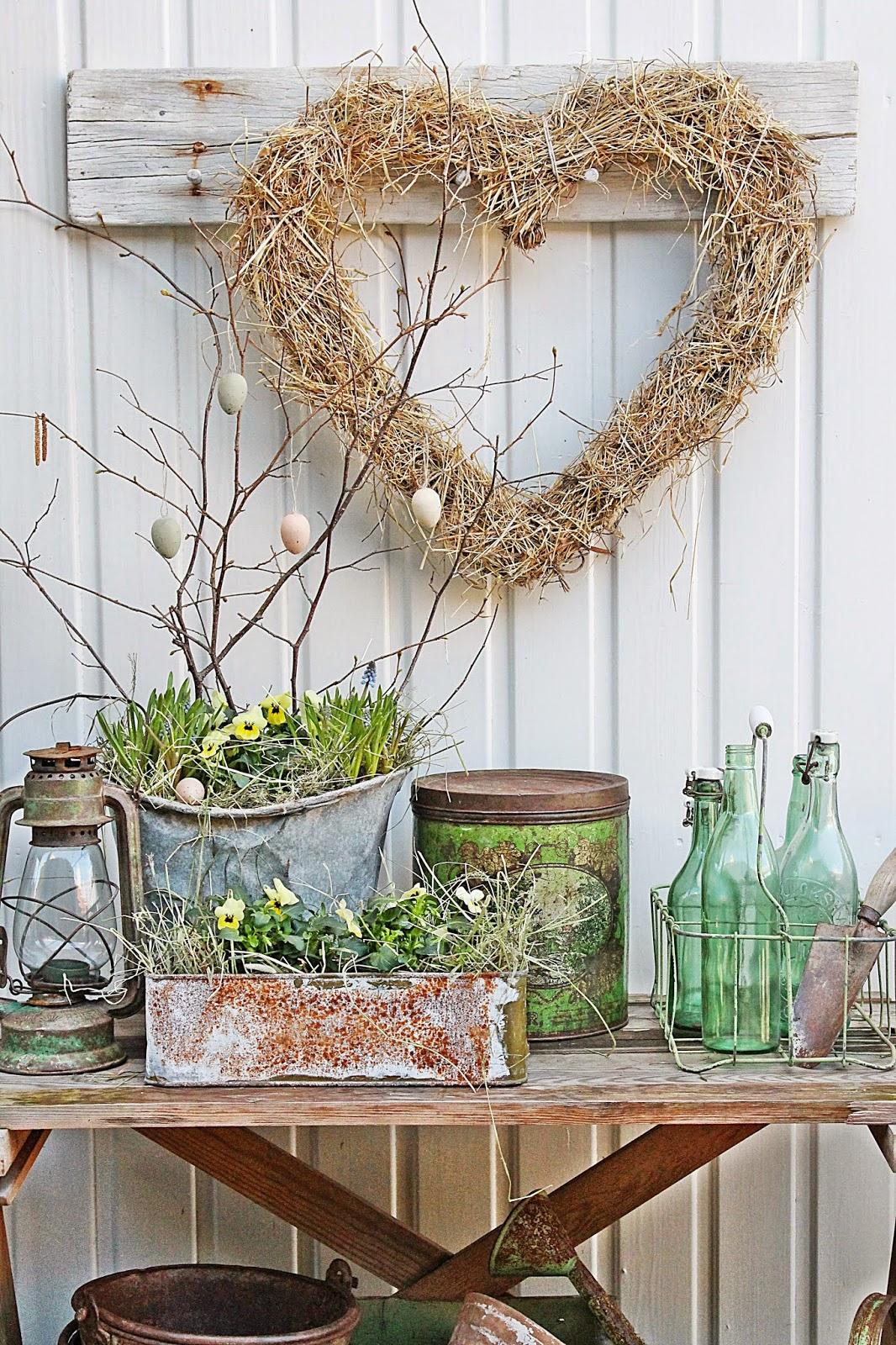 Растительный декор для интерьера в стиле винтаж