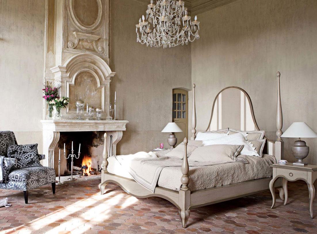 Винтажная спальня в кремовых тонах