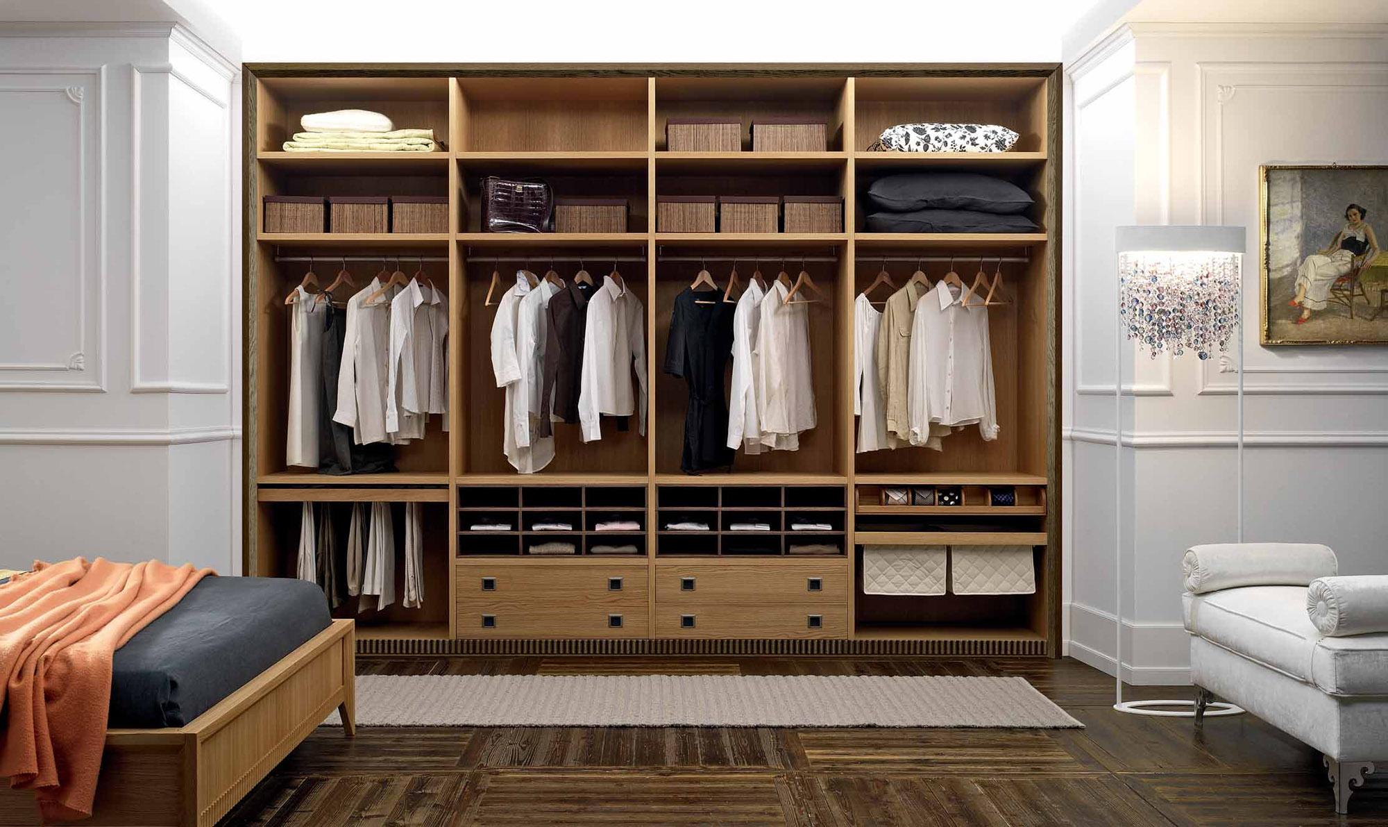 Вариант организации встроенного шкафа