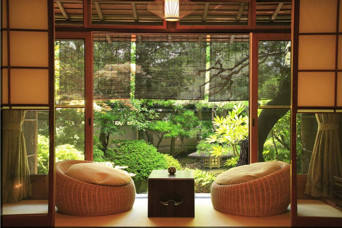 Терраса дома в японском стиле
