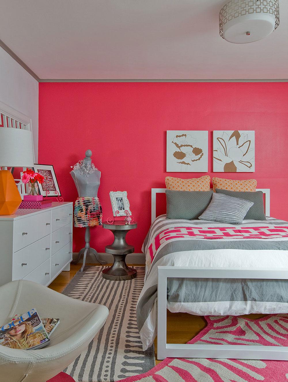 Ярко розовый цвет в интерьере