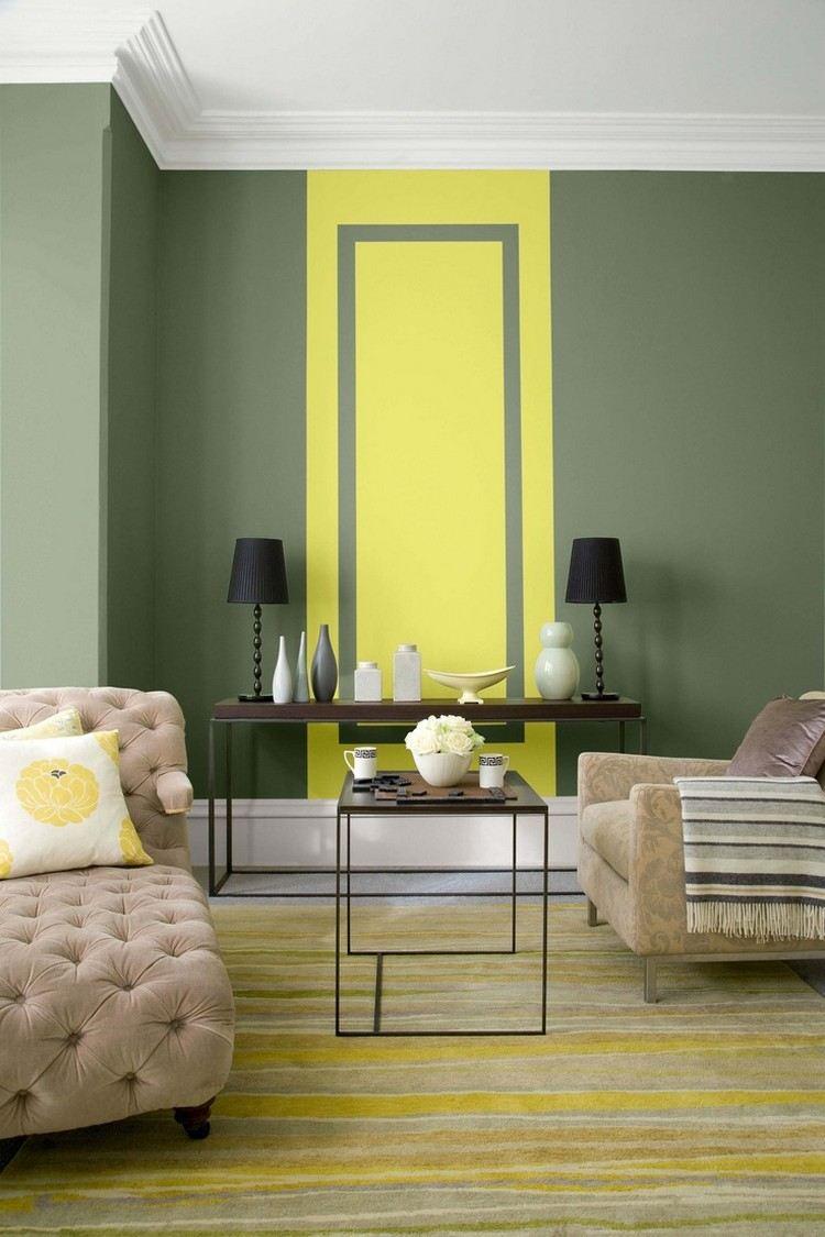 Оливково-желтый интерьер