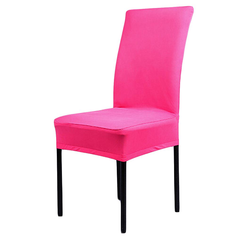 Розовый эластичный чехол на стул