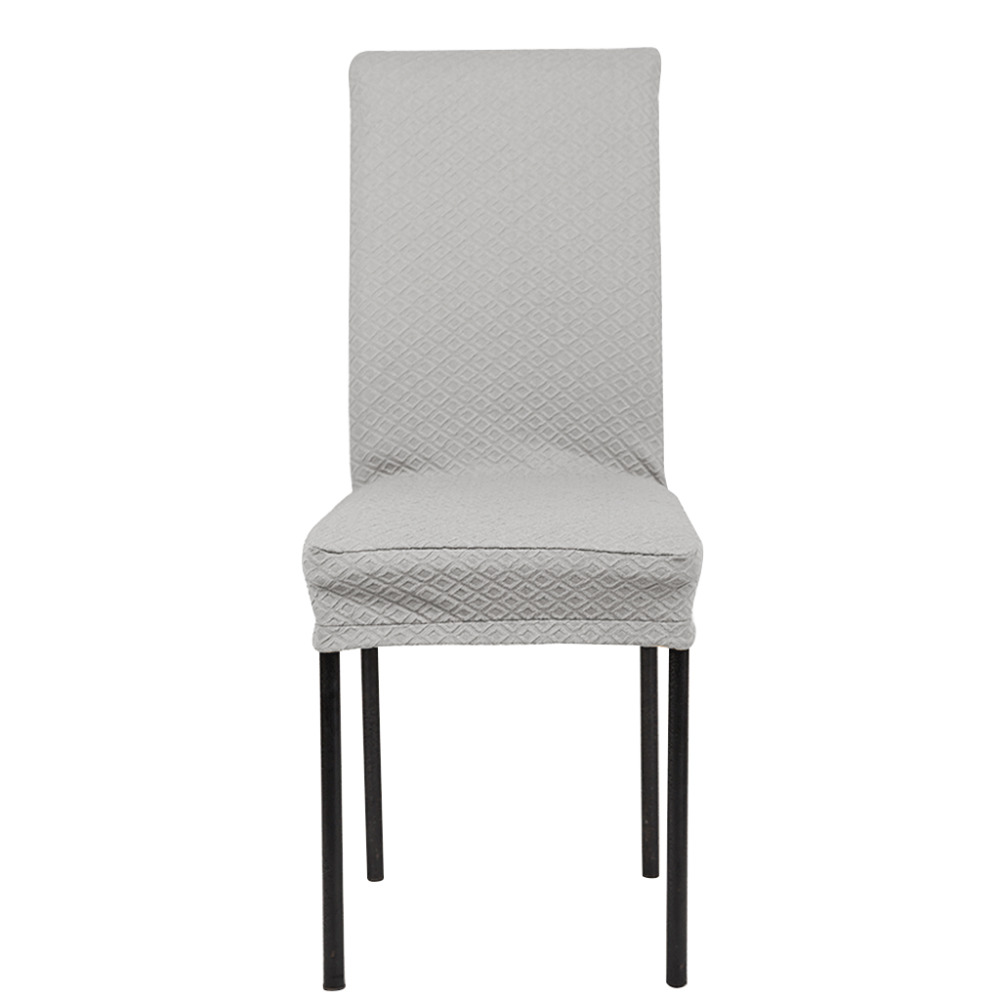 Серый эластичный чехол на стул