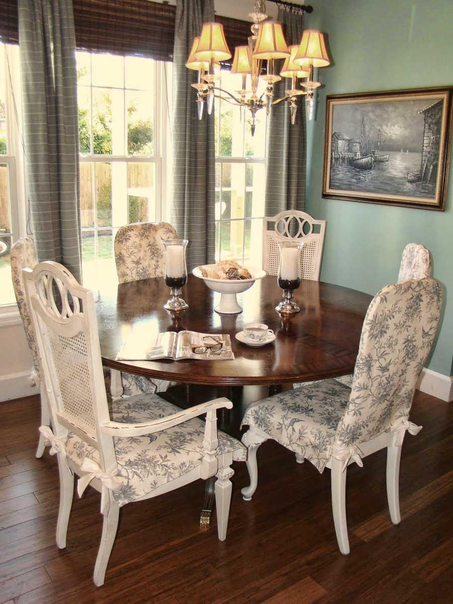 Чехлы для стульев в классическом интерьере