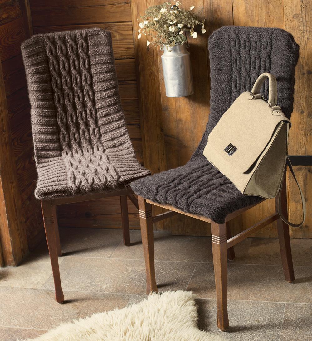 Вязаные чехлы на стулья