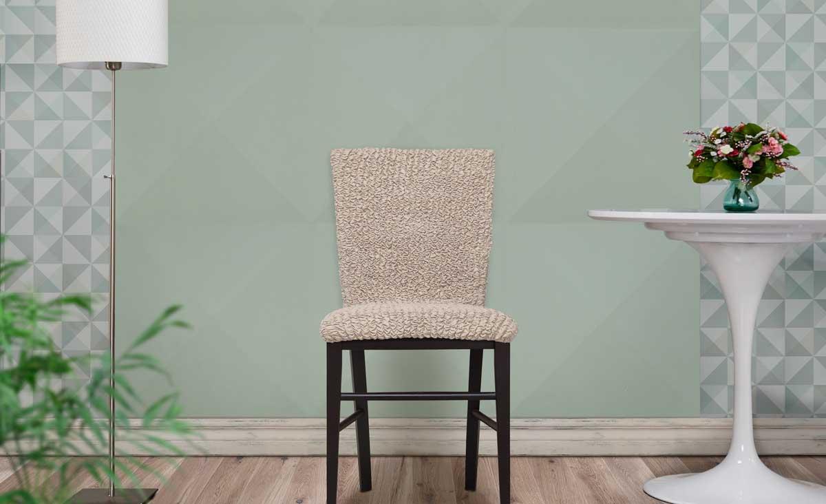 Тканевый чехол на стул со сборками
