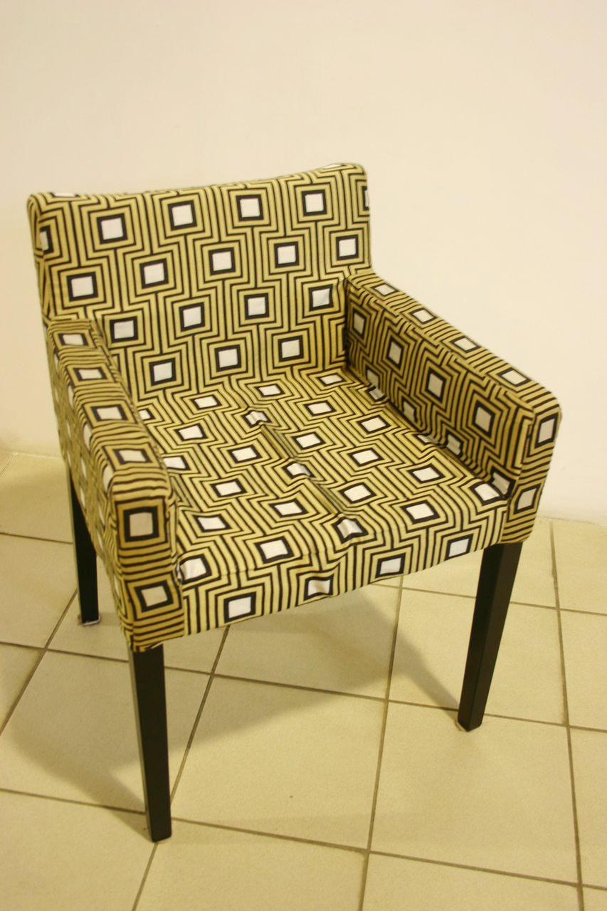 Чехол на кресло с геометрическим узором
