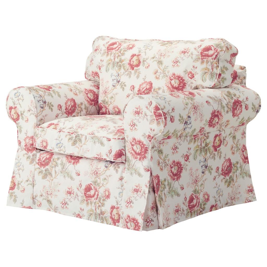 Цветочный чехол на кресло