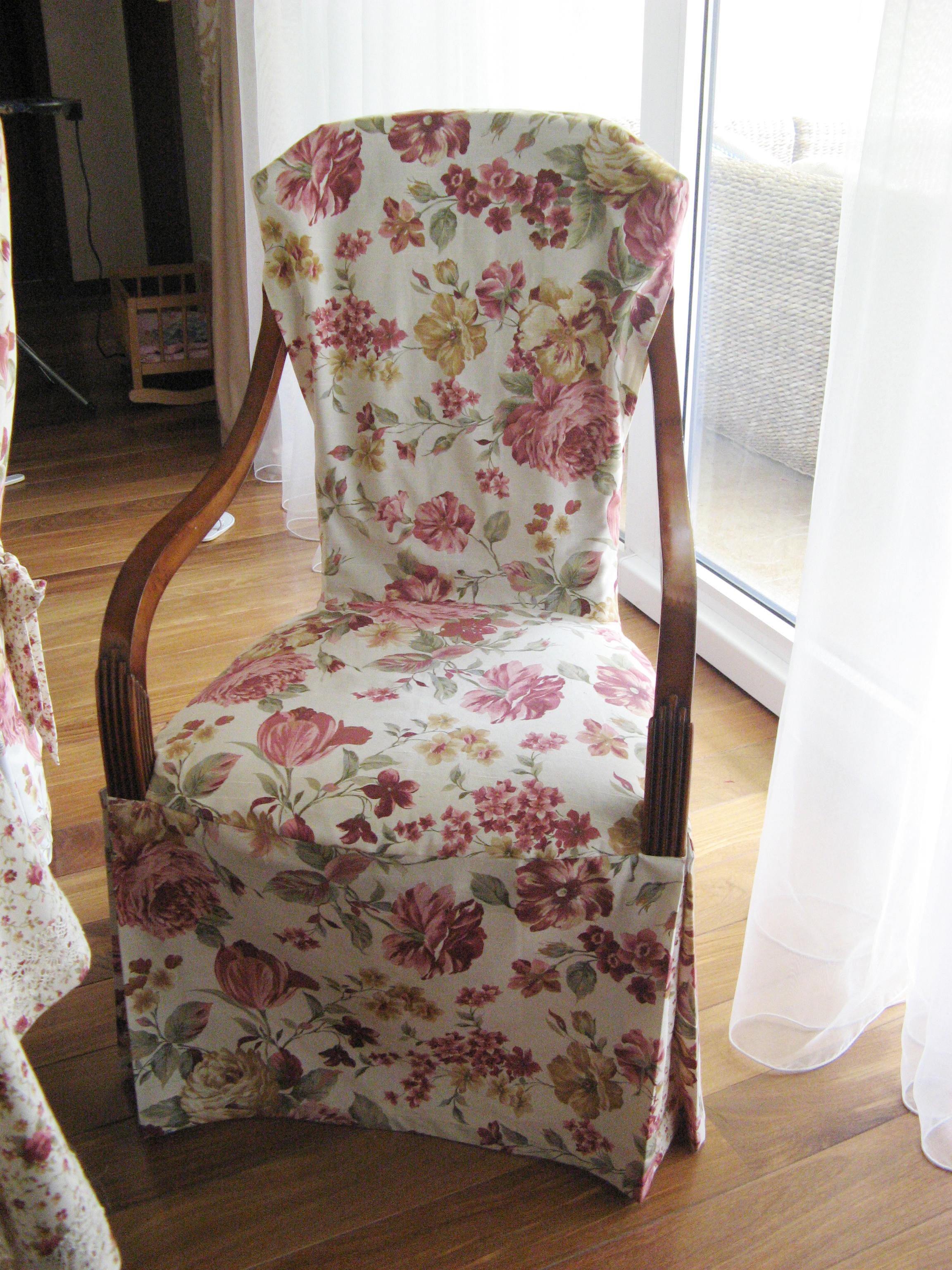 Цветочный чехол на кресло-качалку