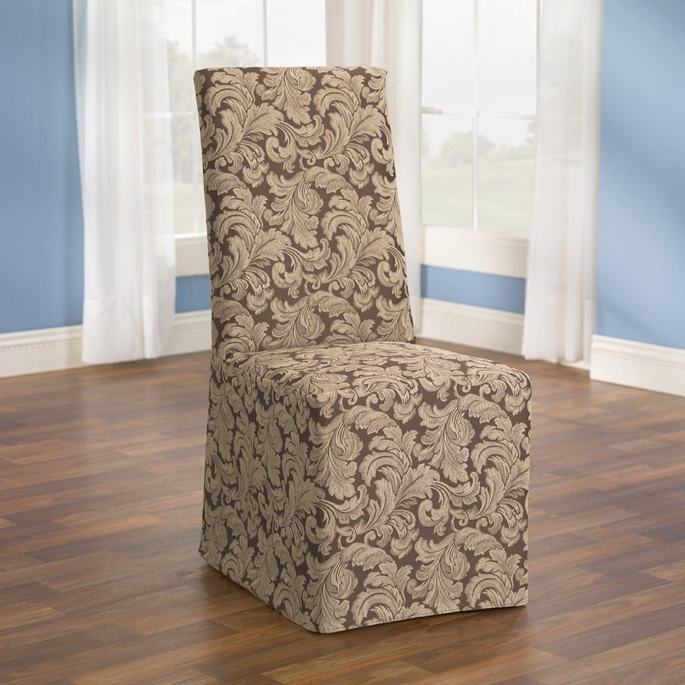 Серо-бежевый чехол на стул
