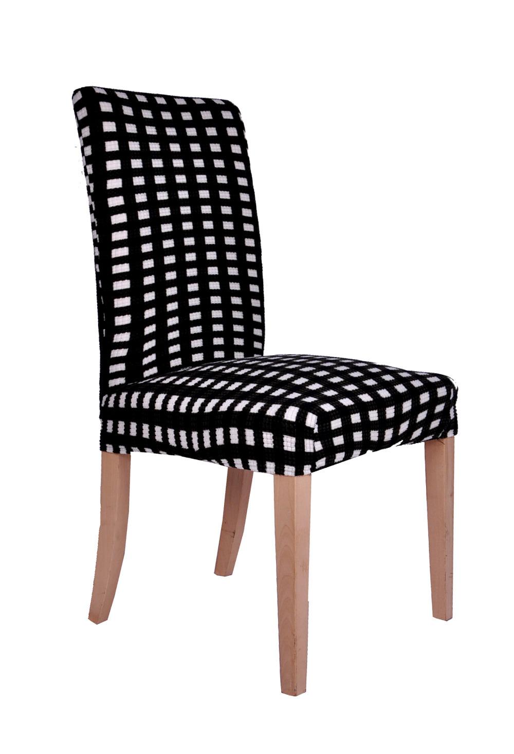Черно-белый чехол на стул