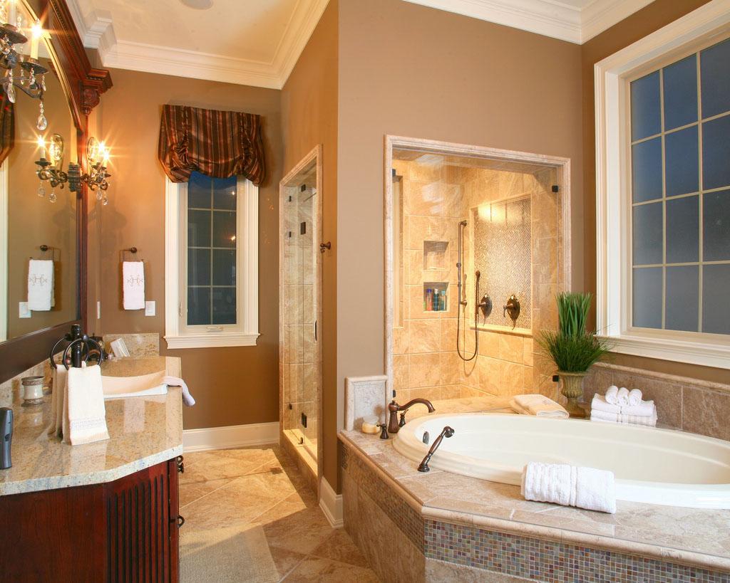 Бежевая ванная комната