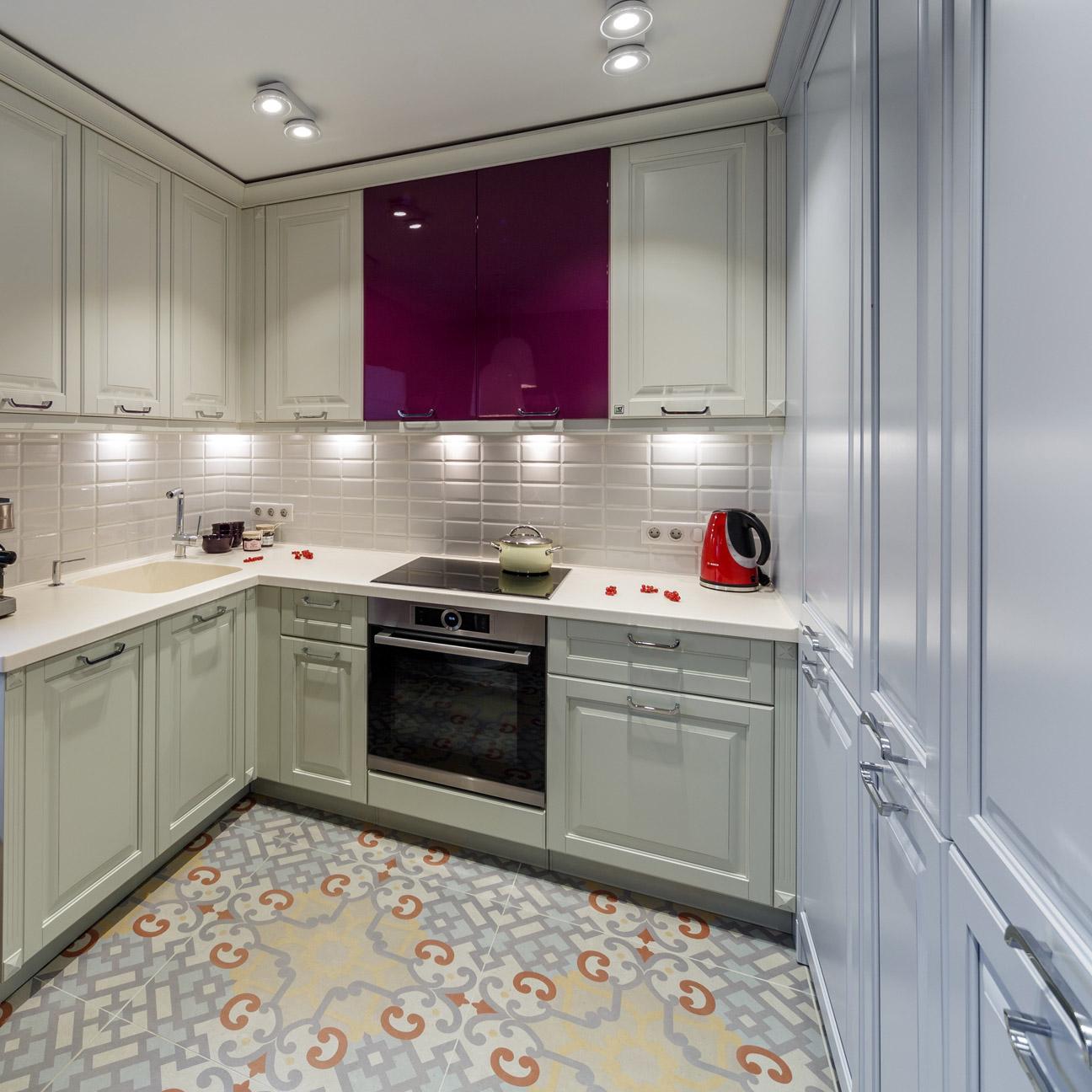 Цвет слоновой кости в интерьере кухни