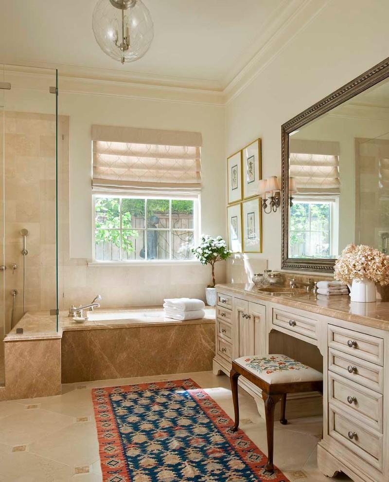 Оттенки бежевого цвета в интерьере ванной комнаты