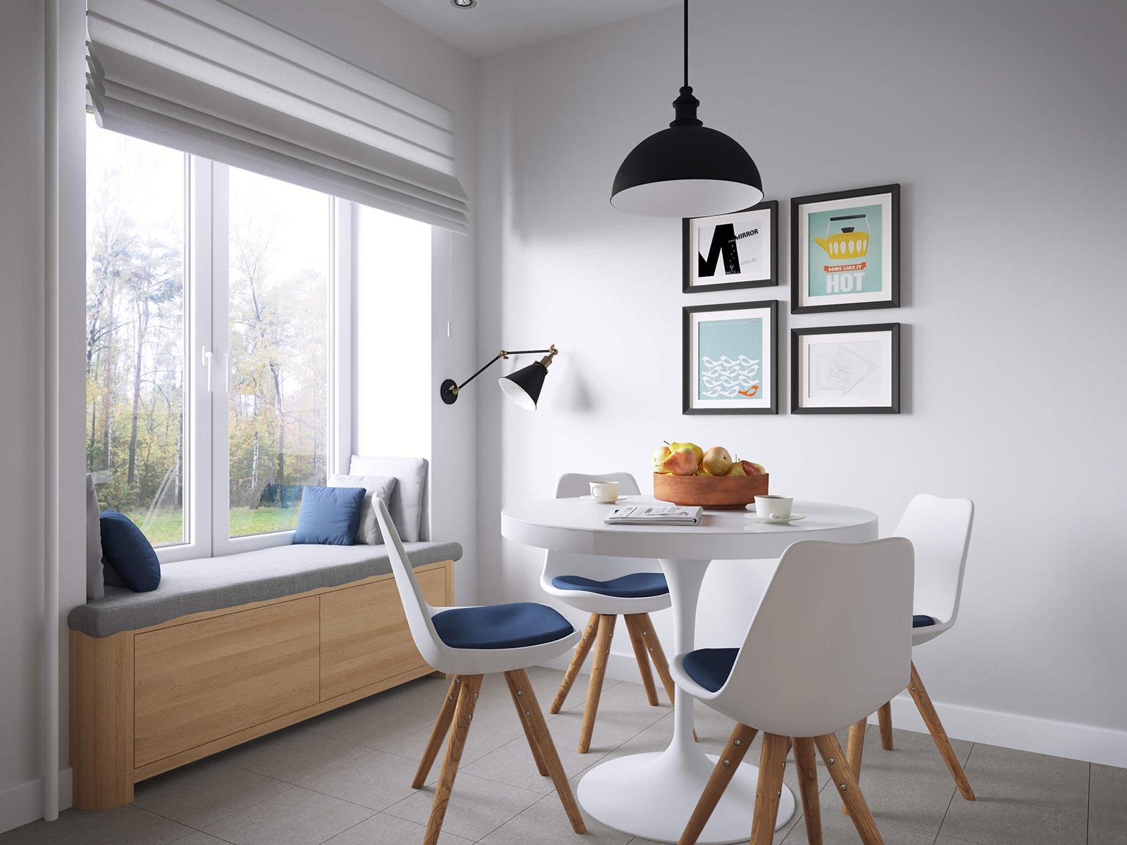 Кухня 11 кв м в скандинавском стиле