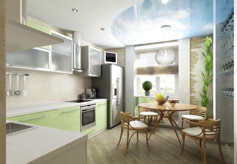Дизайн кухни 11 кв м в эко-стиле