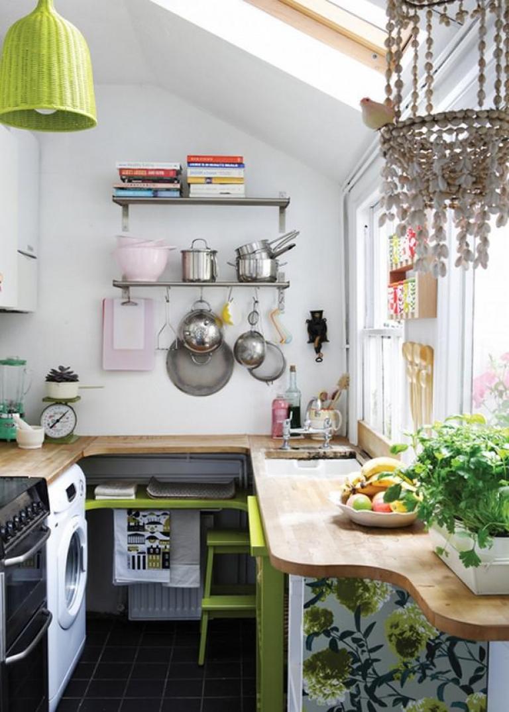 Маленькая кухня 5 кв м в эко-стиле