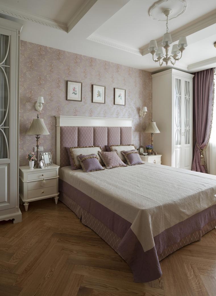 Сиренево-белая спальня в стиле прованс