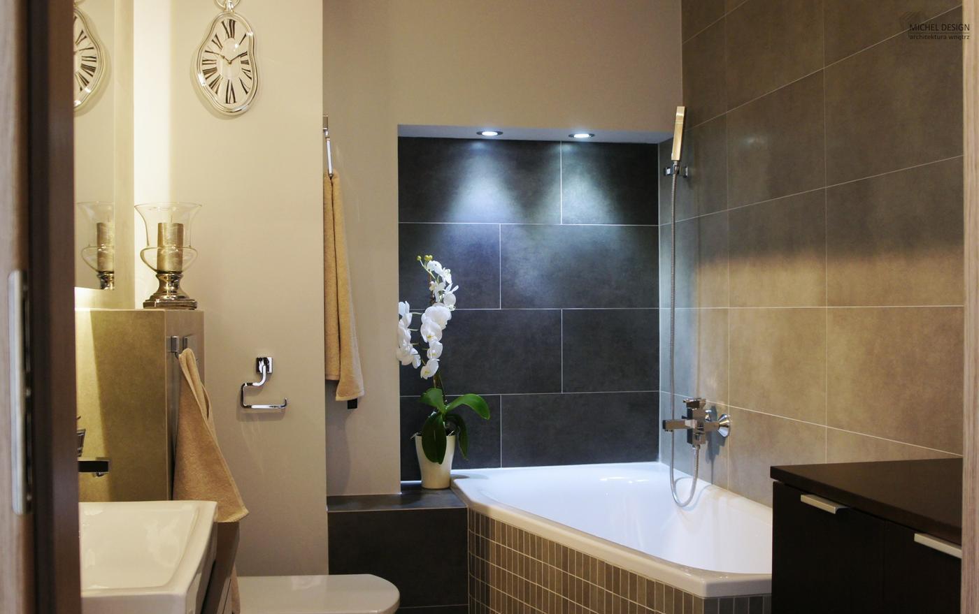 Уютный интерьер ванной 3 кв м