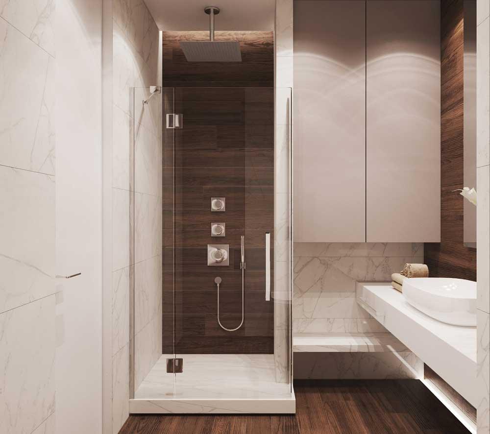 Душевая и отделка ванной комнаты мрамором