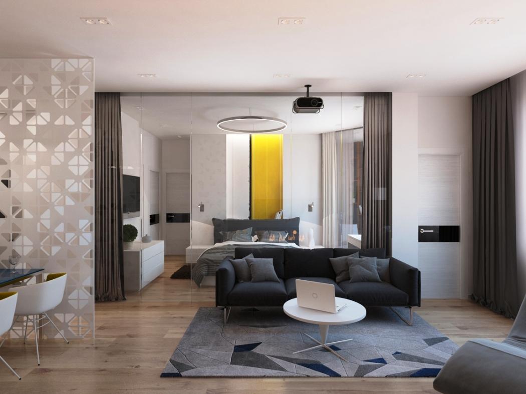 Черно-белая основная гамма квартиры