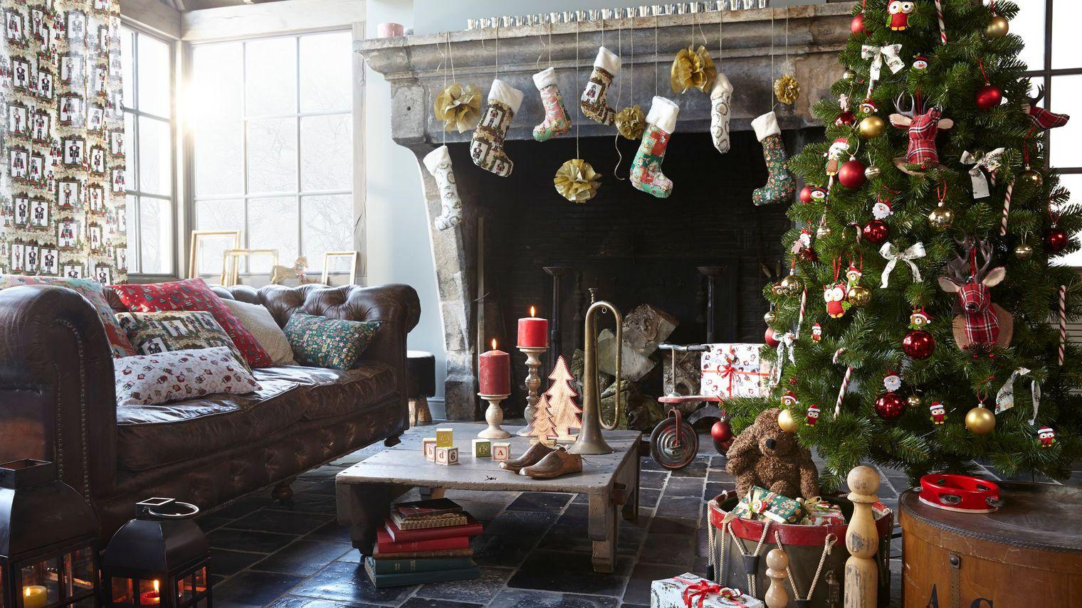 Оформление новогодней елки в стиле кантри