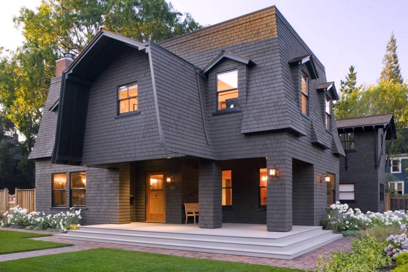 Комбинирование двухскатной и плоской крыши