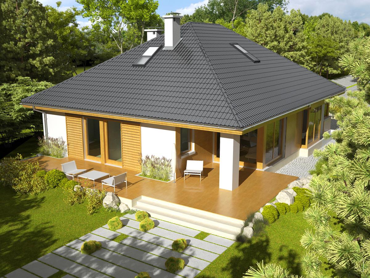 Вальмовая крыша у дома