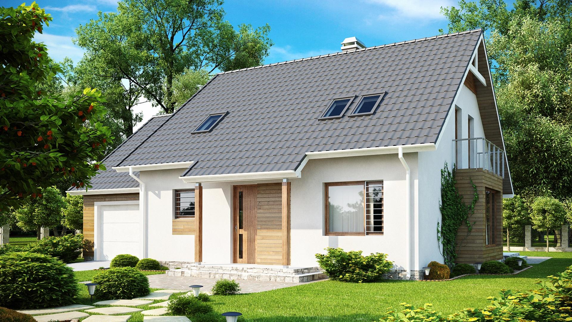 Вальмовая крыша с окнами