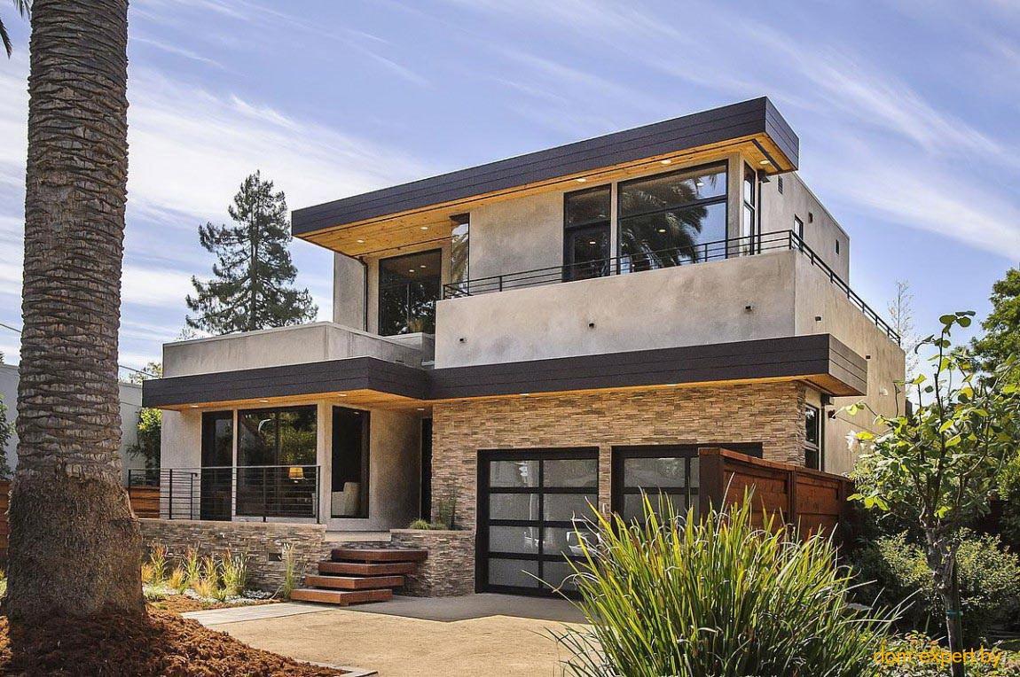 Плоская крыша дома в теплом климате