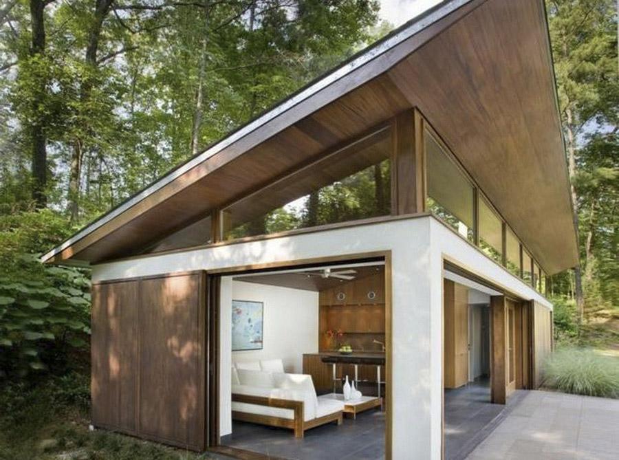 Дизайнерский дом с односкатной крышей