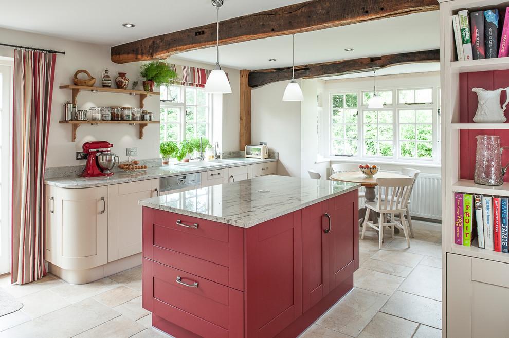 Бежево-серый кухонный гарнитур
