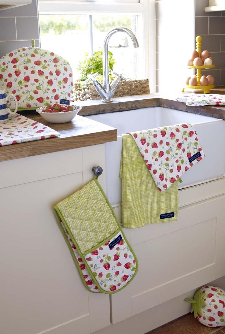 Яркий текстиль на кухне