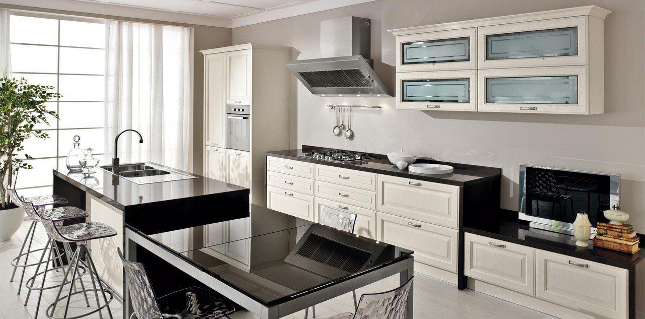 Приоритет белого и кремового цветов на кухне