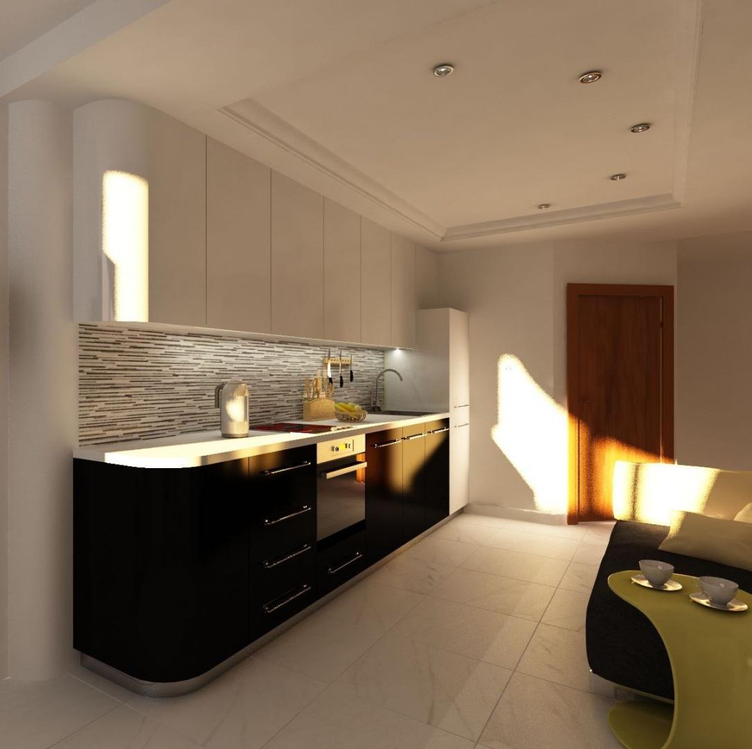 Приоритет белого цвета в небольшой кухне