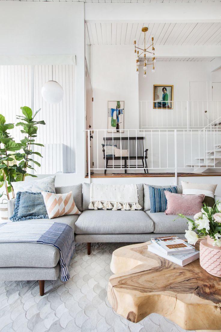 Голубая гостиная с мебелью