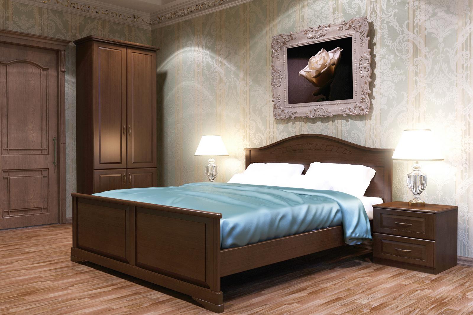 Мебель в спальне из бука