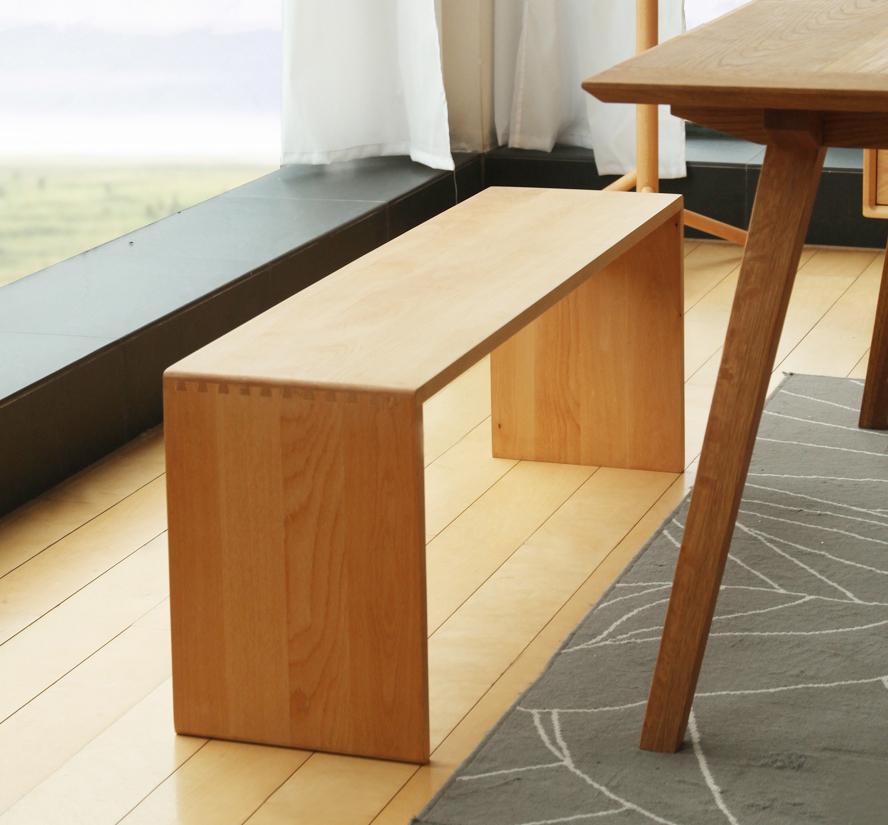 Скамья для столовой из бука