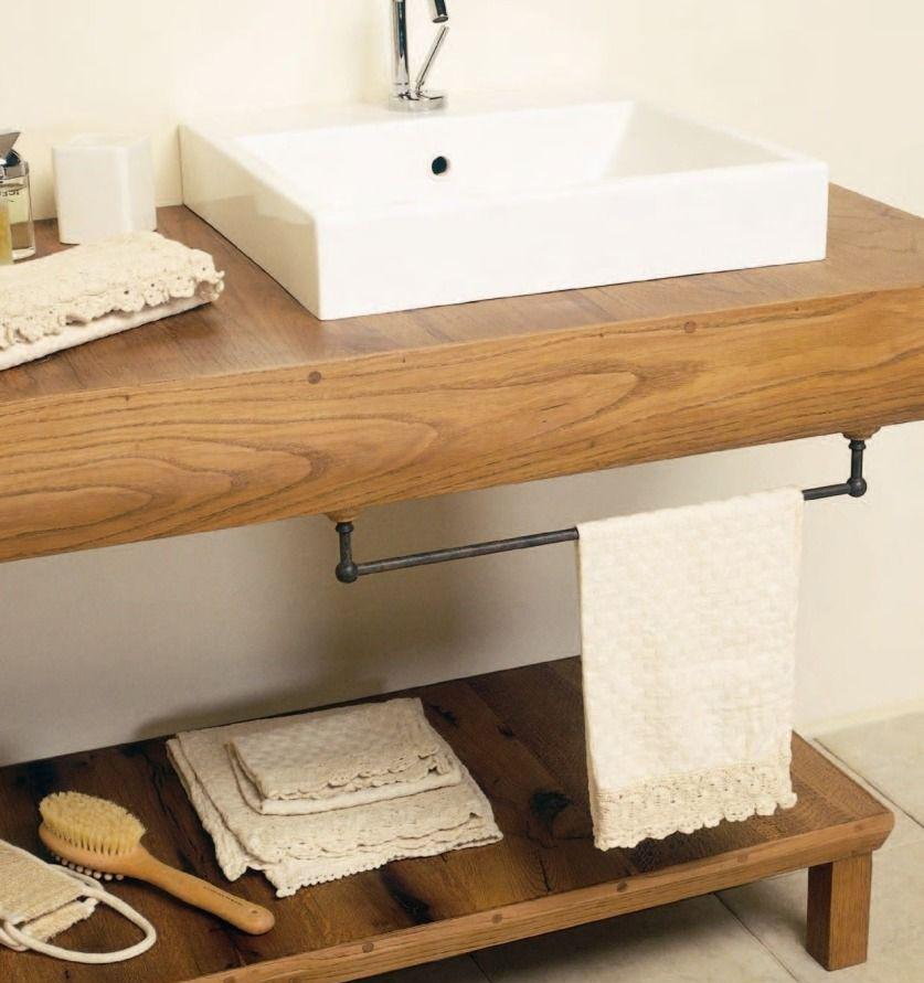 Столешница в ванной из бука