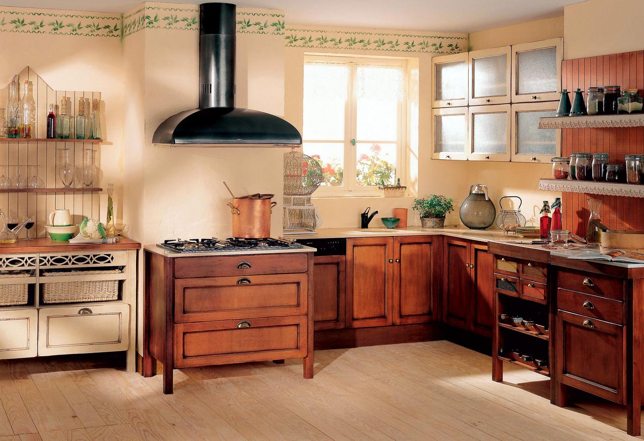 Коричневый кухонный гарнитур из бука