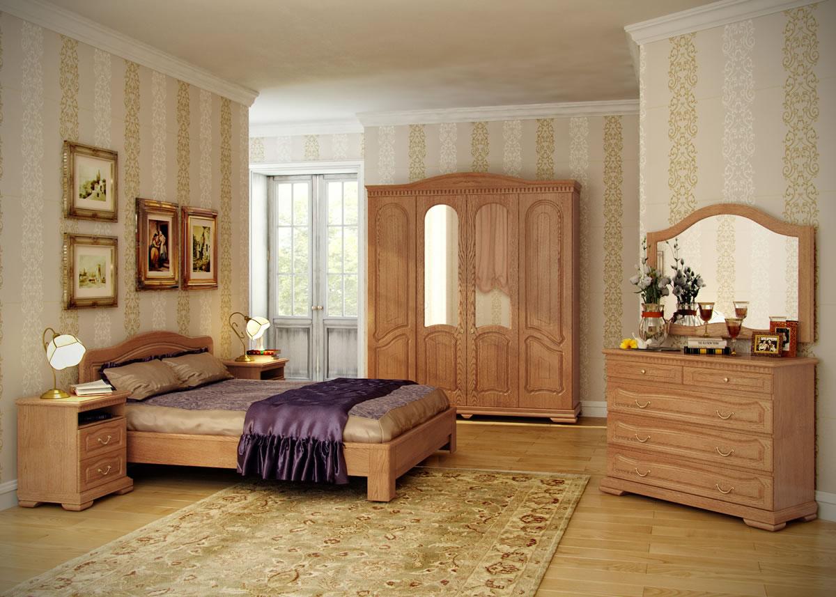 Комплект мебели для спальни из бука