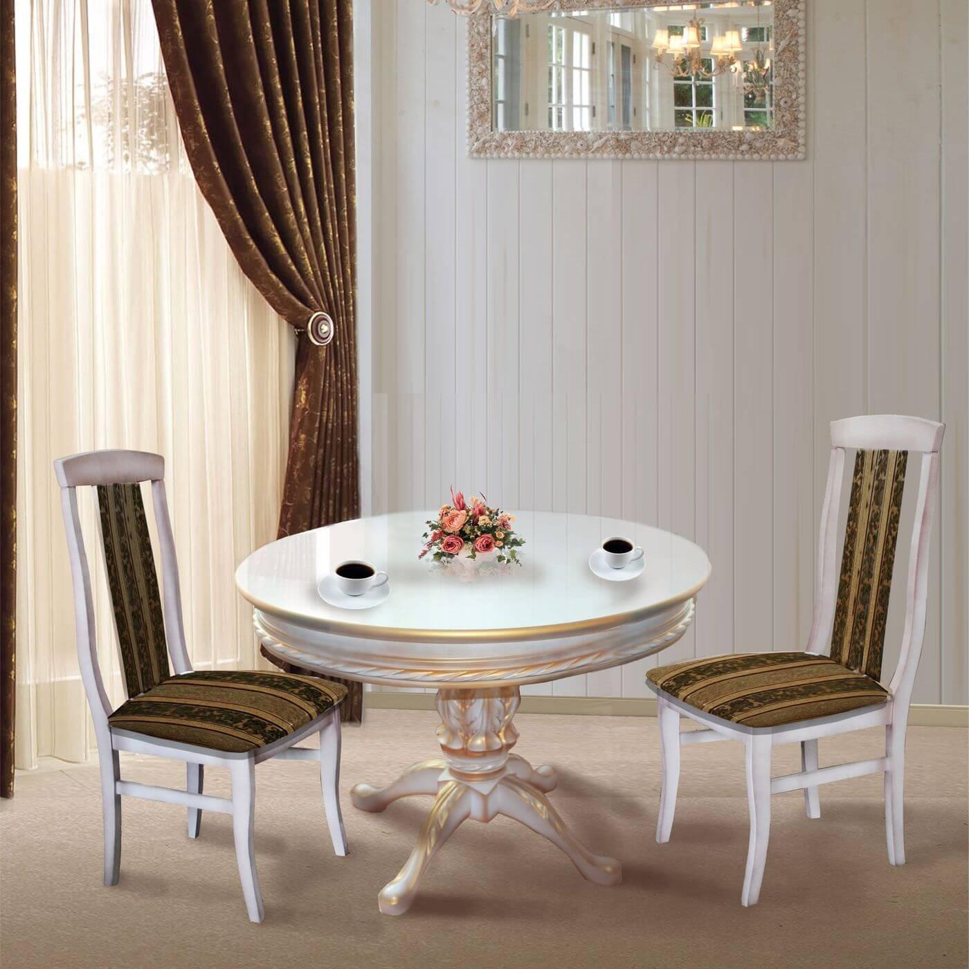 Классический обеденный стол и стулья из бука