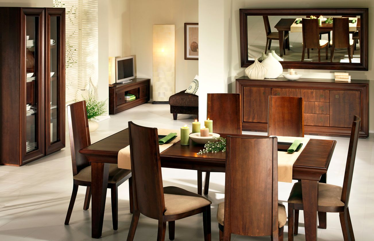 Красивая мебель для столовой из бука