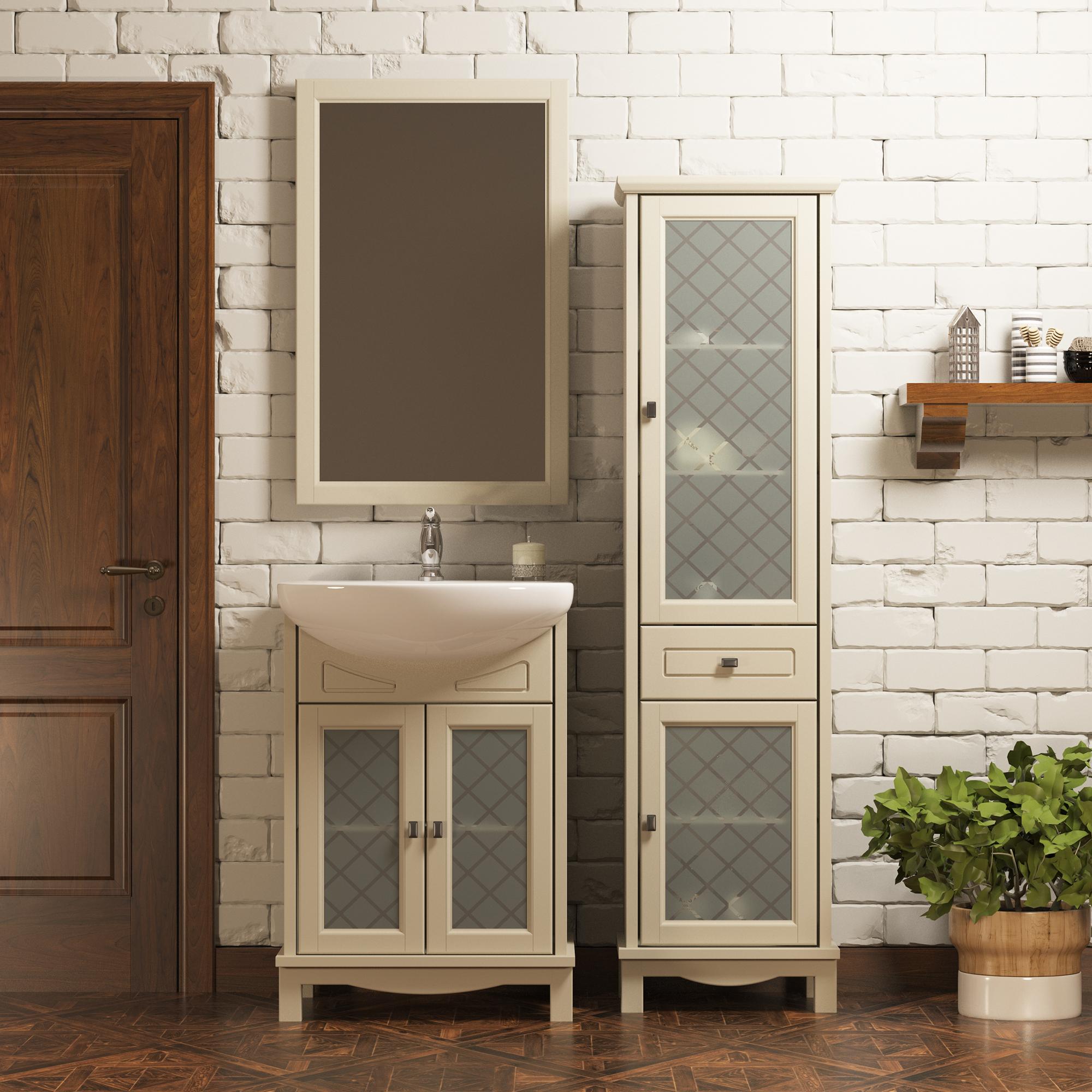 Мебель в ванной из бука