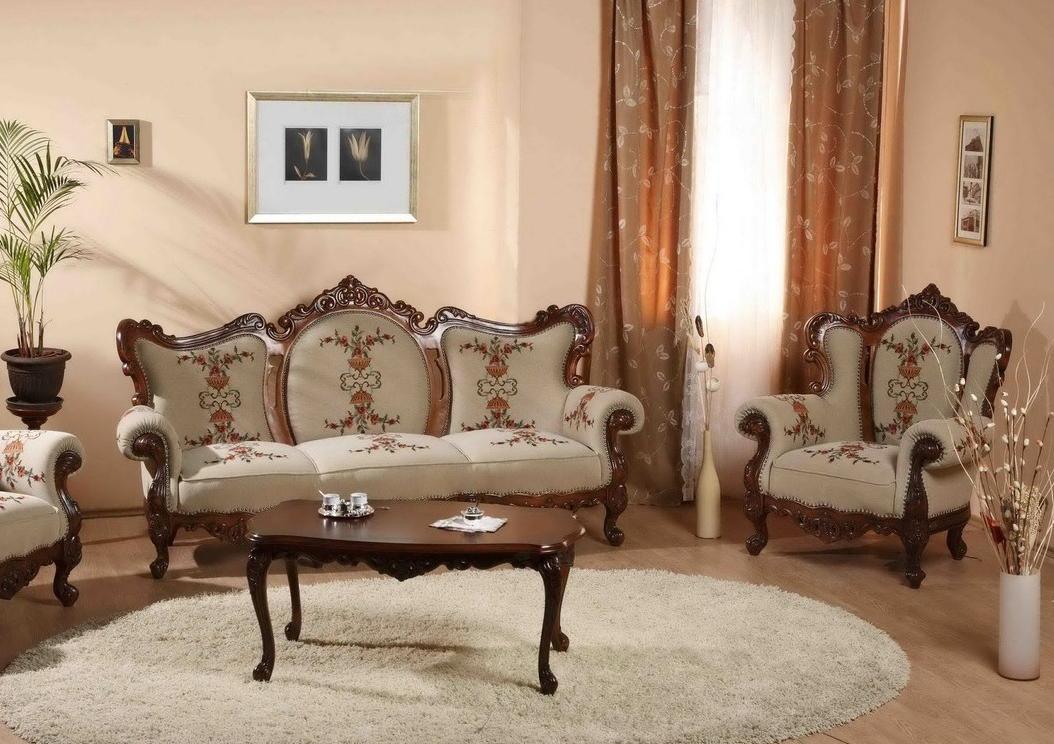 Мебель из бука в гостиной
