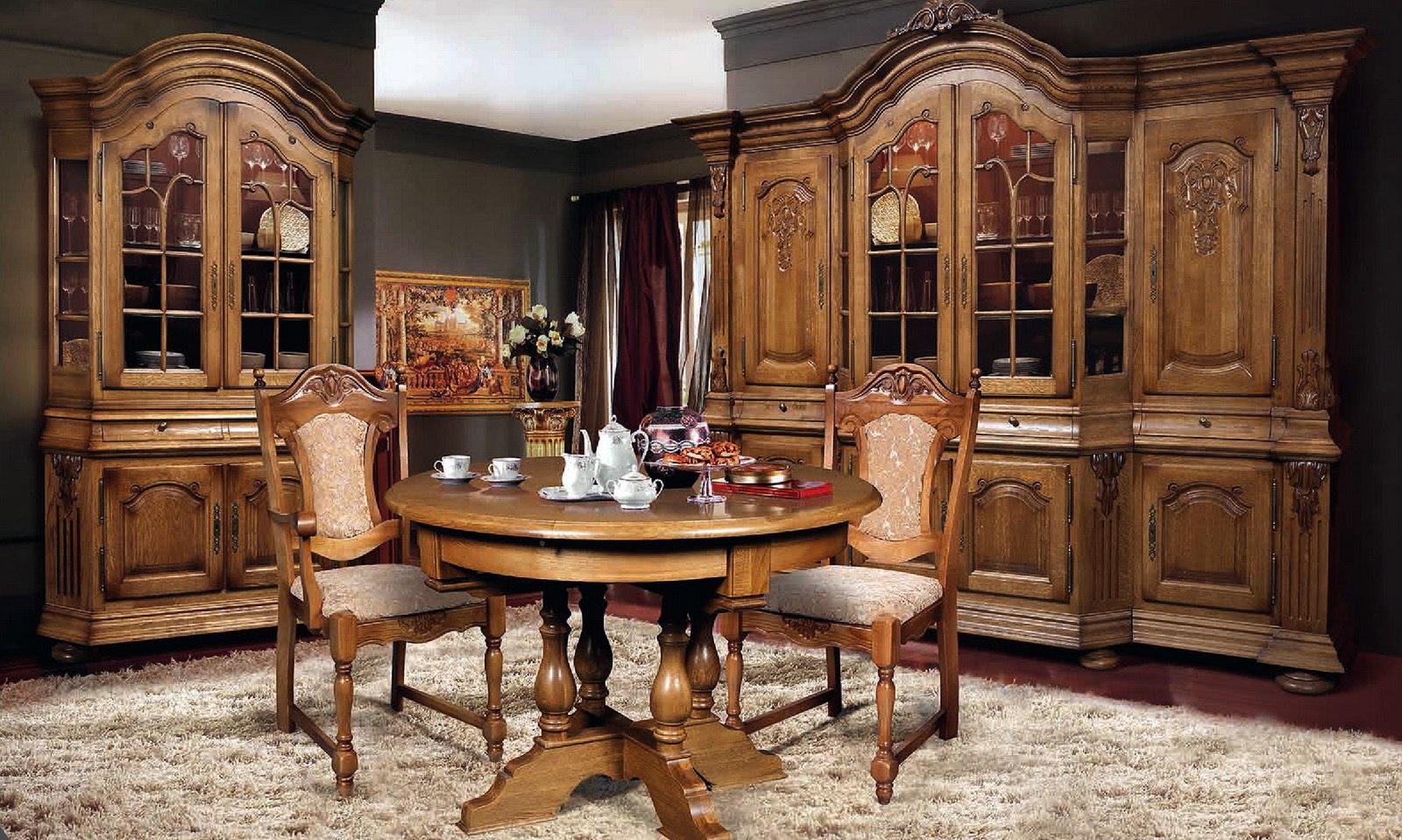 Мебель для столовой из дуба