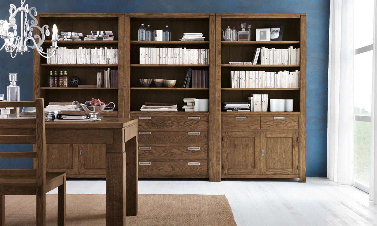 Коричневый комплект мебели из дуба для столовой