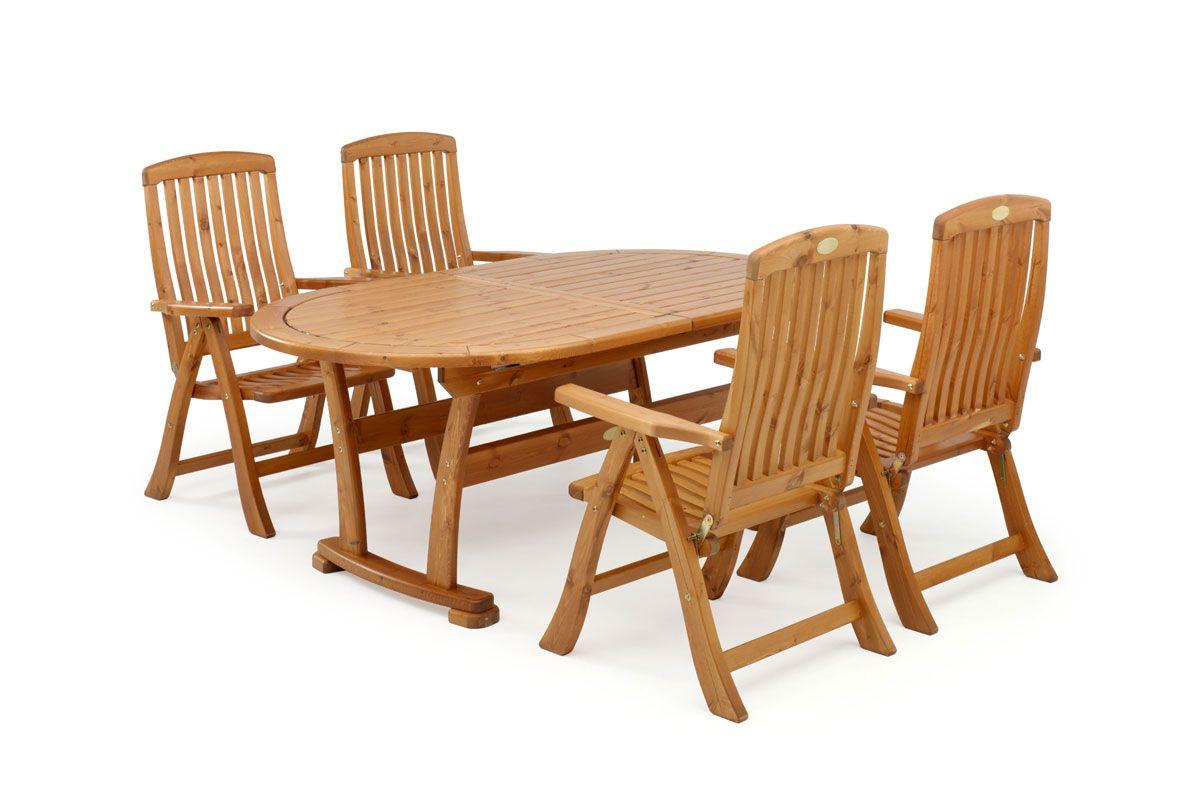 Обеденная мебель для дачи из сосны